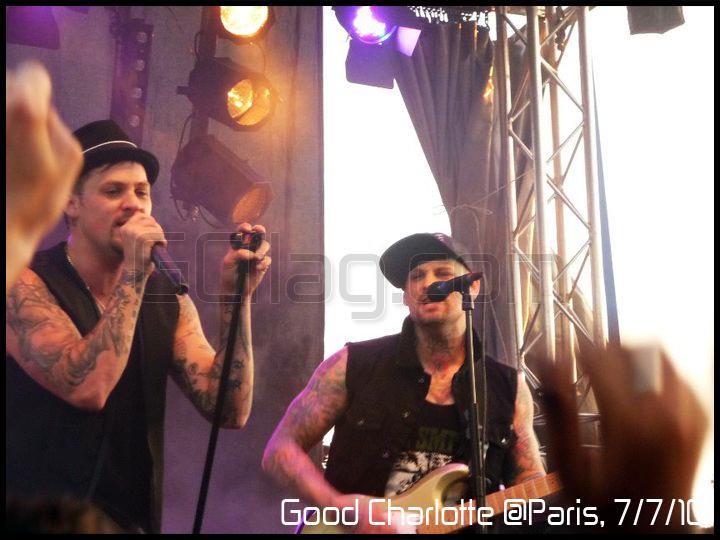 Concert Good Charlotte à Paris le 7 juillet 2010 (Joel & Benji)