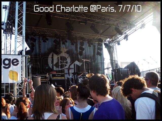 Concert Good Charlotte à Paris le 7 juillet 2010 (Scène)