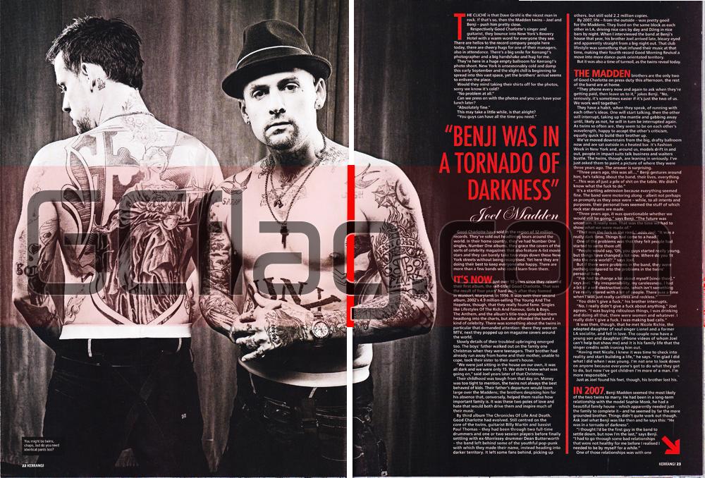 Kerrang! Joel & Benji Madden, Octobre 2010 double page 2